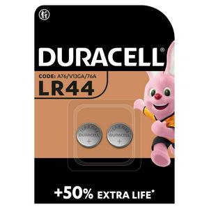 Duracell Specialty LR44 Alkaline Button Battery 1,5V (76A / A76 / V13GA), pack of 2