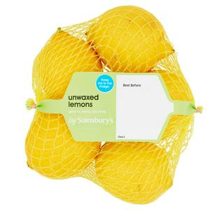 Sainsbury's Lemons Unwaxed minimum 5