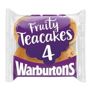 SAINSBURYS > Bakery > Warburtons Teacakes x4