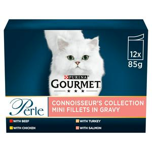 Gourmet Perle Connoisseurs Cat Food Mixed 12x85g