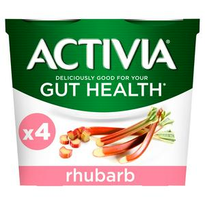 Activia Rhubarb Yogurt 4x120g
