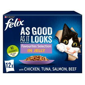 Felix As Good As It Looks Cat Food Favourites 12X100g