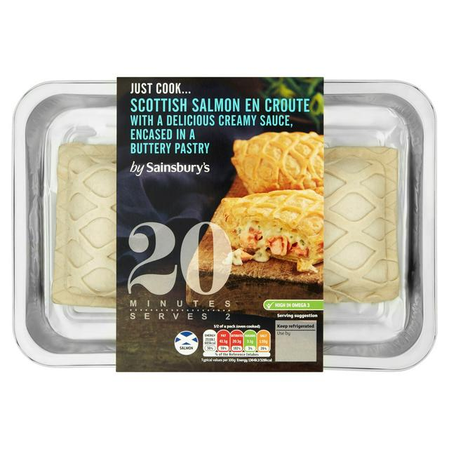 Sainsbury S Just Cook Scottish Salmon En Croute 380g Serves 2 Sainsbury S