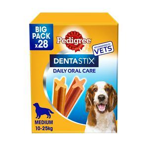 Pedigree Dentastix Daily Adult 1+ Medium Dog Dental Treat Dental Chews Sticks x28