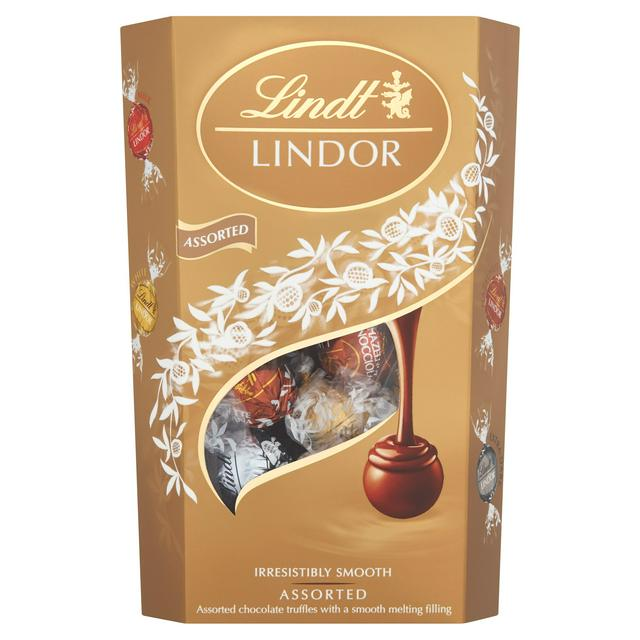 Lindt Lindor Assorted Chocolate Truffles Box 337g Sainsburys