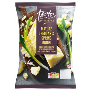 Sainsbury's Cheddar & Spring Onion Crisps, Taste the Difference 150g