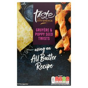 Sainsbury's Gruyere Poppy Seed Twists, Taste the Difference 125g