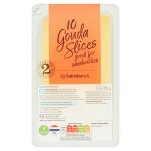 Sainsbury's Gouda Cheese Slices 250g
