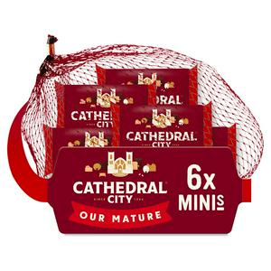 Cathedral City Mini Mature Cheddar Cheeses 6x20g