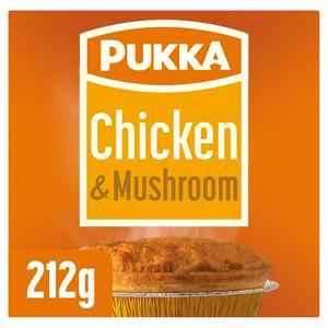 Pukka Pies Chicken & Mushroom Pie 212g