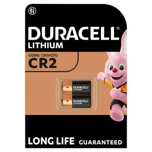 Duracell High Power Lithium CR2 Batteries 3V, pack of 2