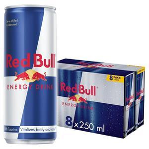 Red Bull Energy Drink 8x250ml (Sugar levy applied)
