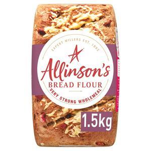 Allinson Premium Very Strong Wholemeal Bread Flour 1.5kg