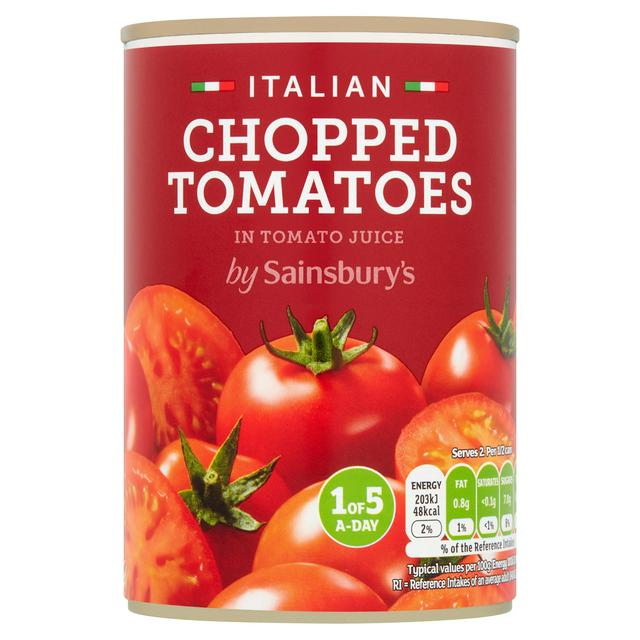 Sainsbury S Chopped Tomatoes Can 400g Sainsbury S