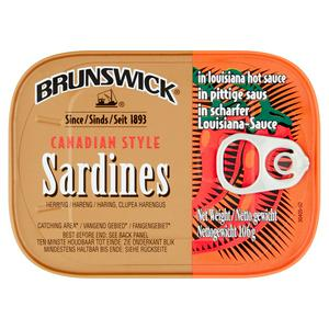 Brunswick Sardines in Louisiana Hot Sauce 106g