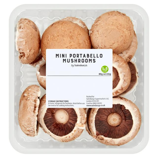 Sainsbury S Mini Portabello Mushrooms 300g Sainsbury S