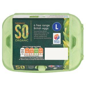 Sainsbury's Woodland Free Range Large Eggs, SO Organic x6