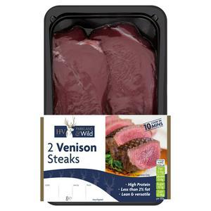 Holme Farmed Venison Steaks x2 240g