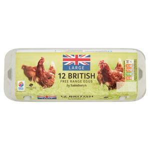 Sainsbury's Woodland Free Range Large Eggs x12