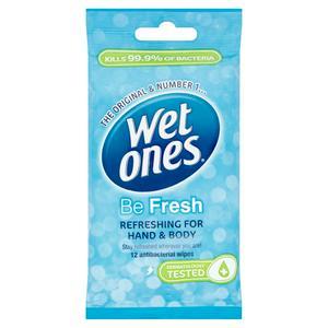 Wet Ones Fresh Antibacterial Hand Wipes x12
