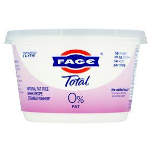 FAGE Total 0% Natural Fat Free Greek Recipe Strained Yogurt 500g