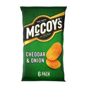 McCoy's Cheddar & Onion Variety Pack Crisps 6x25g