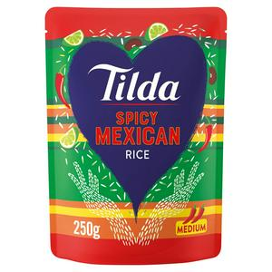 Tilda Microwave Steamed Basmati Mexican Bean & Chilli Rice 250g
