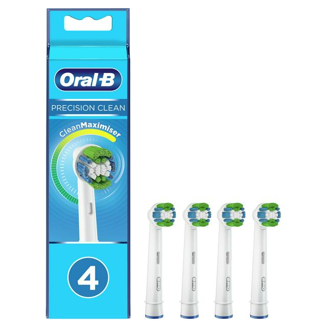 Oral B Precision Clean Refill Toothbrush Heads x4