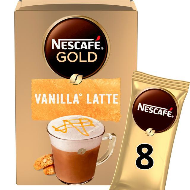 Nescafe Gold Vanilla Latte Instant Coffee Sachets X8 Sainsbury S