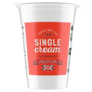 Sainsbury's British Single Fresh Cream 600ml