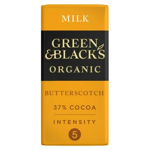 Green & Black's Organic Butterscotch Milk Chocolate Bar 90g