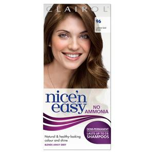 Clairol Nice'n Easy Non Permanent Hair Dye No Ammonia Lightest Gold Brown 96