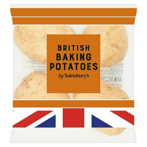 Sainsbury's Baking Potatoes x4