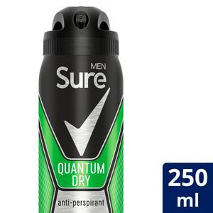 Sure Men Quantum Dry Anti-Perspirant Deodorant Aerosol 250ml