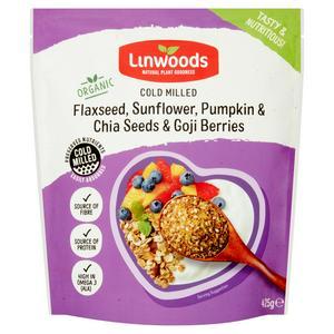 Linwoods Organic Cold Milled Flaxseed, Sunflower, Pumpkin & Chia Seeds & Goji Berries 425g