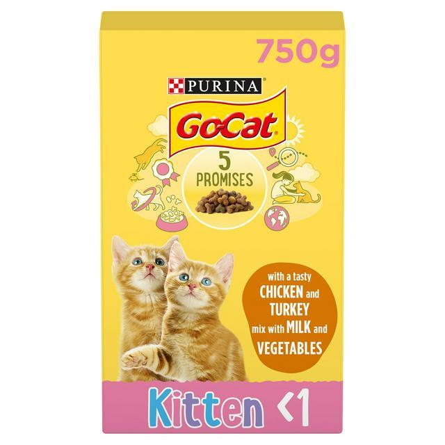 Go Cat Kitten Dry Cat Food Chicken Milk And Veg 825g Sainsbury S