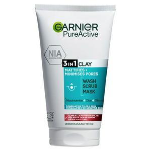 Pure Active 3in1 Clay Mask Scrub Wash Oily Skin 150ml