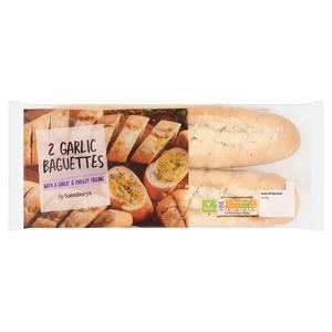 Sainsbury's Garlic Baguette x2 420g