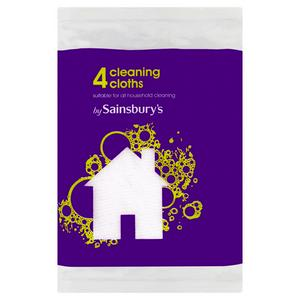 Sainsbury's Cleaning Cloths x4