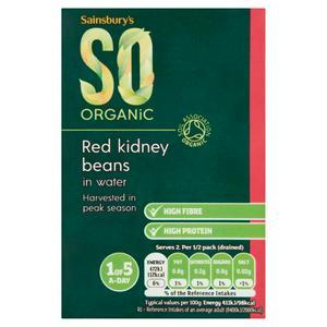 Sainsbury's Red Kidney Beans Carton, SO Organic 380g (230g*)