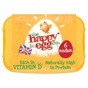 Happy Egg Medium Free Range Eggs x6