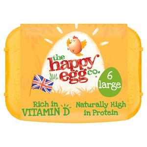 Happy Egg Large Free Range Eggs x6