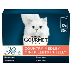Gourmet Perle Cat Food Pouches Country Medley 12X85g