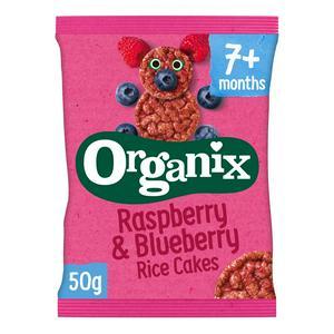 Organix Raspberry & Blueberry Rice Cakes 50g