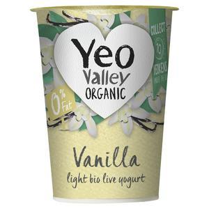 Yeo Valley Organic 0% Fat Vanilla Yogurt 450g