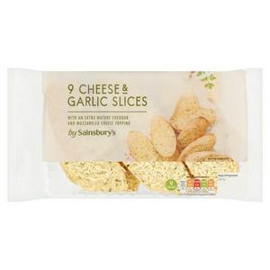 Sainsbury's Garlic & Cheese Slices x9 315g