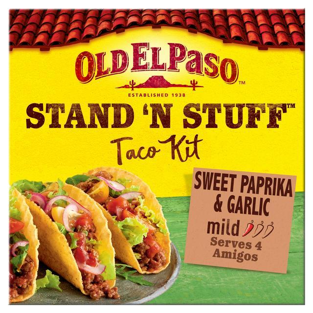 Old El Paso Stand N Stuff Garlic Paprika Taco Kit 312g Sainsbury S