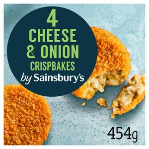 Sainsbury's Cheese Spring Onion Crispbakes x4 454g