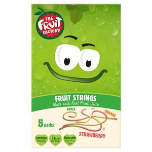 The Fruit Factory Strawberry, Apple & Orange Fruit Strings 5x20g