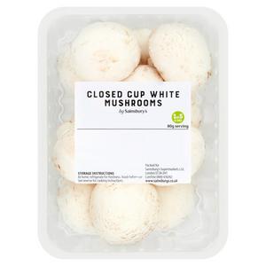 Sainsbury's Closed Cup White Mushrooms 300g